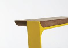 Details we like / Connection / Yellow / Bench / Wood / Contrast / furniture / at Le Manoosh : Photo
