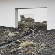 "Olafur Eliasson fills modern art museum with ""giant landscape"" of rocks."