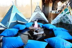 kids camping party tipis