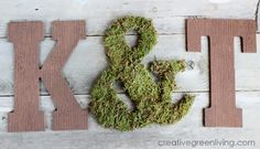 How to Make Embossed Woodgrain Monograms ~ Creative Green Living