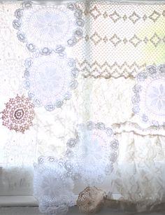 DIY Lace Doily Curtain