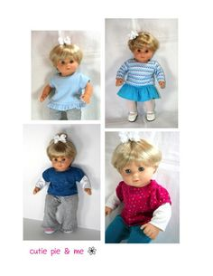 "Mix and Match Tee 15"" Doll Clothes"