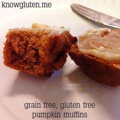 Gluten Free, Grain Free Pumpkin Muffins   Know Gluten - yum!