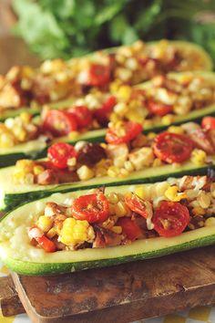Summer Stuffed Zucchini Boats