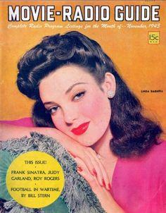 "Linda Darnell ~ ""Movie-Radio Guide"" magazine..."