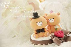 Wedding Cake Topper love bear