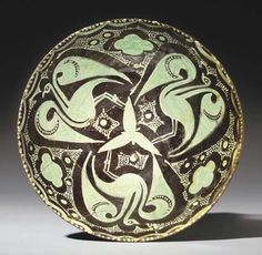 A NISHAPUR CONICAL POTTERY BOWL   NORTH EAST PERSIA, 10TH CENTURY
