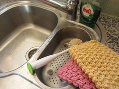 crochet dishcloth, busi finger, pattern