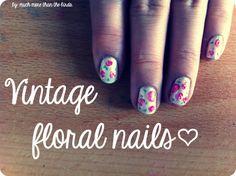 How to: Vintage floral nails  #tutorial #diy #nail #art