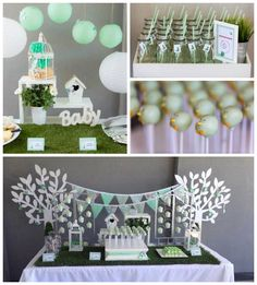 Mint Birdie Baby Shower with Lots of Really Cute Ideas via Kara's Party Ideas | Cake, decor, cupcakes, games and more! KarasPartyIdeas.com #birdieparty #birdparty #birdpartyideas #partydecor #babyshower