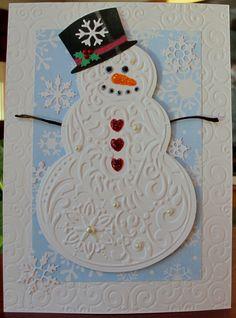 Embossed Snowman Card...