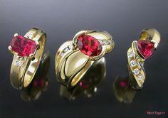 Nyala ruby rings