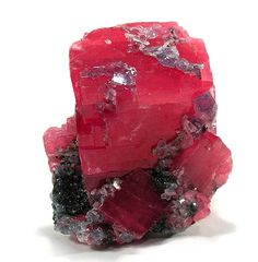 Rhodochrosite Locality: Sweet Home Mine (Home Sweet Home Mine), Mount Bross, Alma District, Park County, Colorado, USA (Locality at mindat.org) Size: small cabinet, 8 x 5.8 x 3.8 cm Rhodochrosite, Fluorite, Quartz