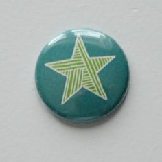Green Star Flair Button by Two Peas @2peasinabucket