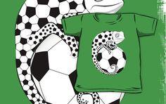 Soccer Chameleon, Kids Shirt