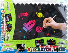 Scratch and See Pre-Cut Poster Board Shapes!