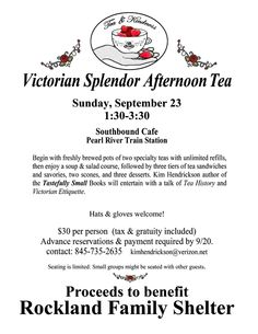 This is my latest venture; raising money for charity with monthly tea parties!