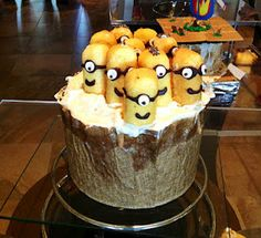 cupcakes/cake festival. i like the use of twinkies as the minions. awesome.
