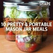 Pretty and Portable Mason Jar Meals for your busy mornings!