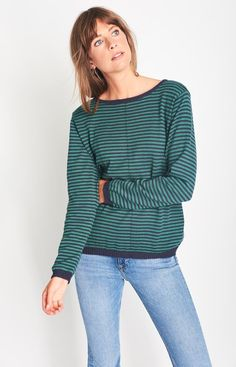 Lauren Organic Cotton Striped Jumper - BIBICO