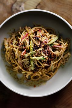 Firey Cold Sichuan Sesame Noodle | Lady and Pups