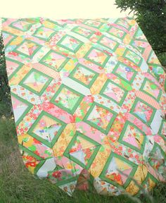 Double Crossed quilt pattern using Dream On by Diary of a Quilter