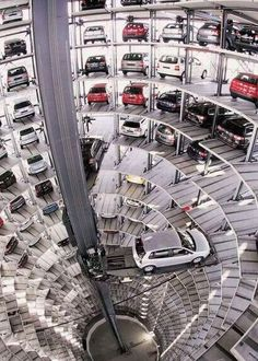 Amazing Parking Garage, Munich, Germany