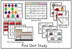 Included:       Lesson Plan       Flashcards                   Fire Truck Colors        Fire Truck Counting       Fire Hydrant Patterns