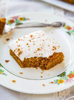 Pumpkin Cake with Pumpkin Spice Buttercream Frosting