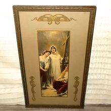 Vintage Religious Print of Three Women with Cross - Campbell Art Co.