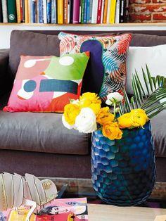 kleurig interieur door zijn kleurrijke accessoires. #kleur #interieur ...