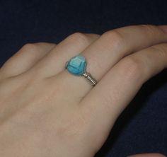 Minecraft Diamond Ring. $8.00, via Etsy.