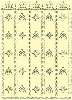 Stenciling colonial primitive on pinterest stencil for Mckie wing roth home designs