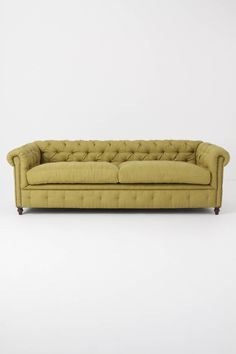 Thackery Chesterfield Chartreus Sofa Anthropologie