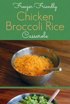 Freezer Friendly Chicken Broccoli Rice Casserole -- this recipe is hands down one of our very favorite. It's easy to whip up, it's frugal, and it freezes well!**turned out pretty good. More of a side dish though.