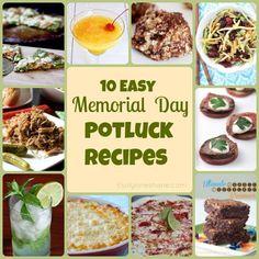 10 Easy Memorial Day Potluck Recipes #memorialday #recipes #foodie