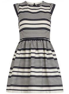 tall blue stripe dress