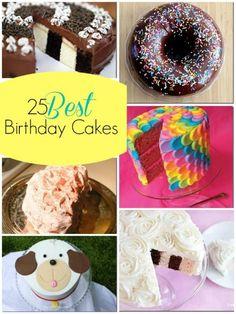 25 Best Birthday Cakes | @Remodelaholic #baking #cake #birthday #ideas