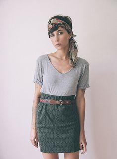 scarf short hair, dream closets, head scarfs, headband, outfit, pencil skirts, silk scarves, classic boho style, boho fashion