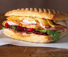 Use Thanksgiving leftovers of turkey and cranberry relish to good use in this grilled sandwich.