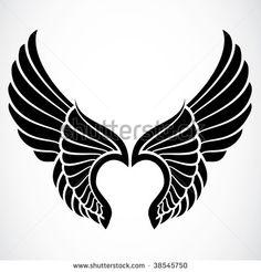 stock-vector-vector-angel-wings-38545750.jpg (450×470)