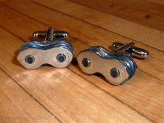 Bicycle Chain Cufflinks