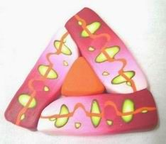 kaleidoscop, polymer clay tutorials, polym clay, clay cane, triangl
