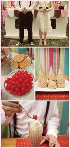 wedding receptions, milkshak bar, wedding desserts, reception ideas, dessert ideas, wedding blog, paper straws, retro milkshak, unique weddings