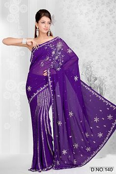 Violet Color Saree