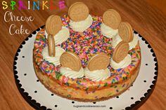 Sprinkle Cheesecake - Hugs and Cookies XOXO