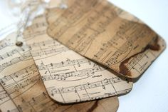 Sheet Music as Vintage Tags