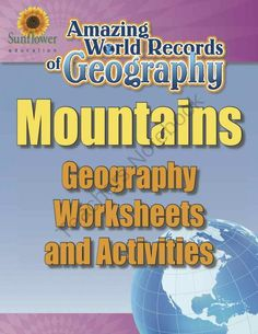 MOUNTAINS�Geography Worksheets and Activities from Sunflower Education on TeachersNotebook.com -  (12 pages)  - A complete lesson about the world's greatest mountain range�THE HIMALAYA-KARAKORAM RANGE! Includes Geography worksheets and activities.