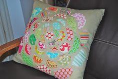 pillow talk, scrapbust, no sew pillows, scrap pillow, pillow craft, cushion, throw pillows, anthropologi pillow, diy pillows