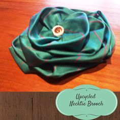 Recycled Fashion: Upcycled Thrifted Givenchy Necktie Flower Brooch Tutorial